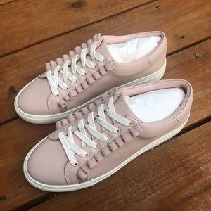 Tory Burch Shell Pink Ruffle Sneaker NIB